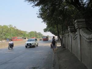 Road outside Aga Khan Palace
