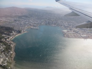 Wellington Harbour from the air