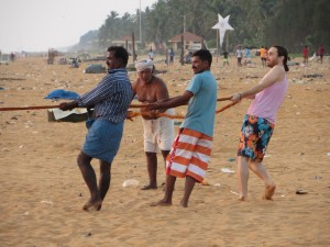 Fishing on Kochuveli Beach, Trivandrum, Kerala