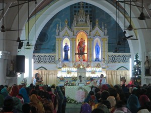 Midnight Mass at St Joseph's Church, Kochuveli
