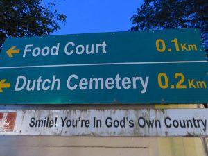 Dutch Cemetery sign, Kochi
