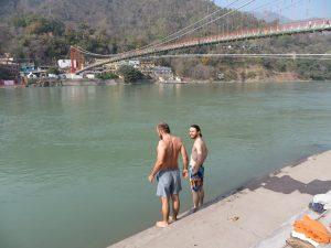 Bathing in the Ganges, Rishikesh