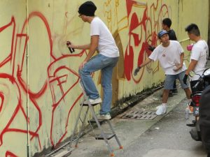 Street artist, KL, Malaysia
