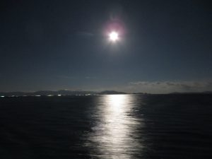 Moon over Gulf of Thailand